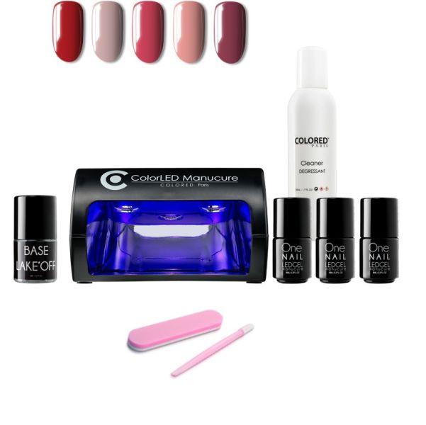 Kit Manucure 5 vernis + Base Lake'OFF et accessoires